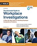 Investigate―and resolve―common workplace problems  Workplace complaints carry serious legal and financial risks to a company, so it's essential to act fast when you receive an employee complaint. But an ineffective or poorly handled investiga...