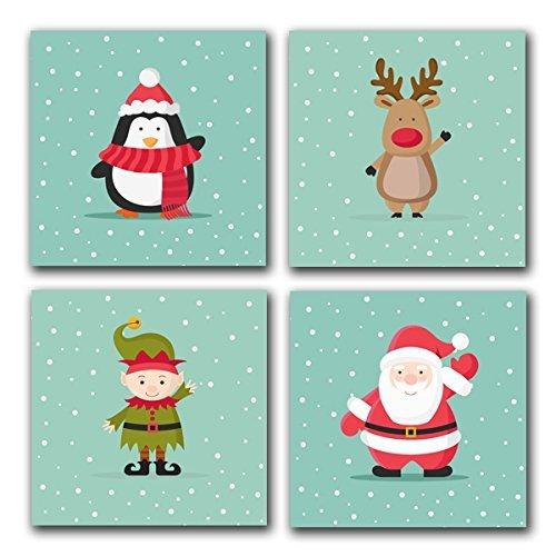 Amazon.com CHRISTMAS Characters Penguin Reindeer Elf Santa