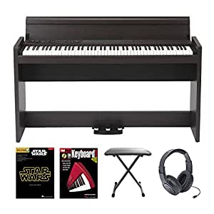 korg lp 380 digital piano in rosewood with stereo headphones padded bench star. Black Bedroom Furniture Sets. Home Design Ideas