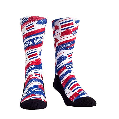 Costa Rica Dress - International Country Flag Rock 'Em Socks (One Size, Costa Rica - Country Flag Paint)