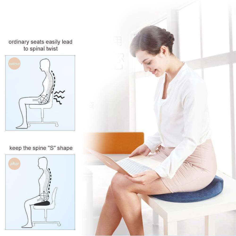 coccige ortopedico cuscino del sedile per abbellire fianchi seggiolino auto sedie a rotelle adatto per sedia da ufficio Cuscino memory foam allevia dolori della zona lombare colore viola