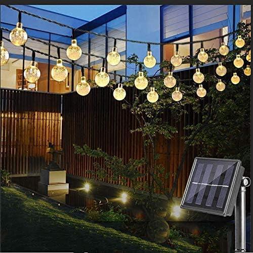Guirnaldas de Luces Solar 6M 30 LED Cadena de Luces Solar 8 modos ...