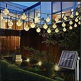 Guirnaldas de Luces Solar 6M 30 LED Cadena de Luces Solar 8 modos Farolillos Guirnalda Luces Luces de Cadena solar Guirnalda Bombillas solar Solar Luces exterior IP65 Impermeable