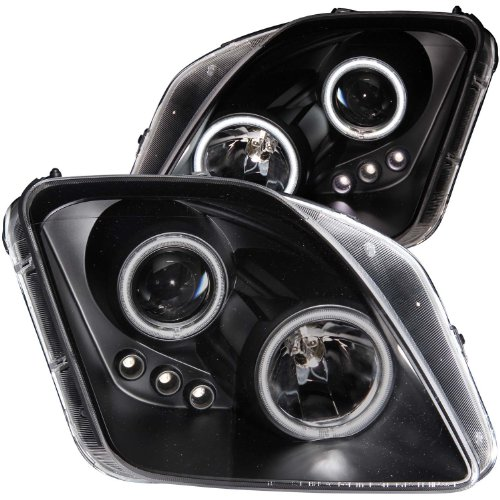 Honda Housing Prelude Black - HEADLIGHTSDEPOT Black Housing Halogen Headlight Compatible with Honda Prelude 1997-2001 Includes Left Driver and Right Passenger Side Headlamps