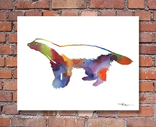 "Mallard Duck Abstract Watercolor Painting 11/"" x 14/"" Art Print Artist DJ Rogers"
