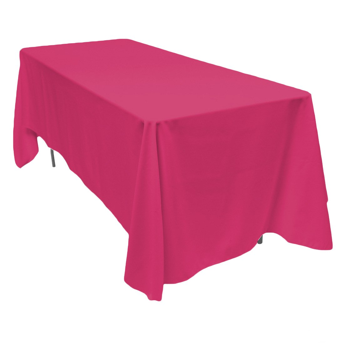 Amazon.com: LinenTablecloth 70 X 120 Inch Rectangular Polyester Tablecloth  Fuchsia: Home U0026 Kitchen