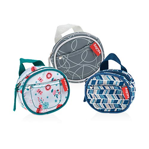 Nuby Pacifier Hygienic Paci-Pouch Combo for Travel, Set of 3
