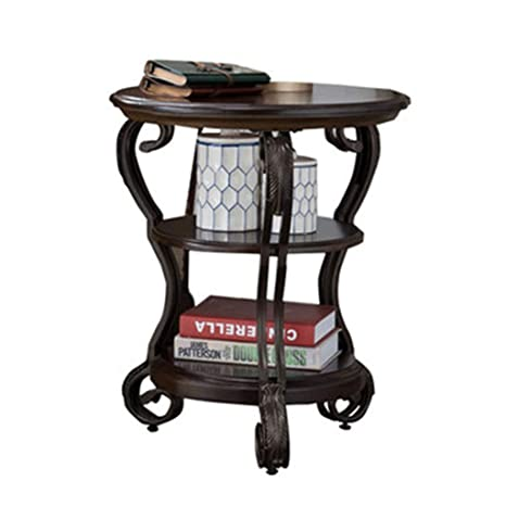 Amazon.com: Mesa de café para el hogar, redonda, pequeña ...