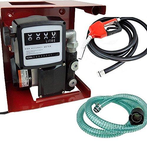 GHP 110V Automatic Transfer Fuel/Kerosene Pump Kit w Meter Fueling Nozzle