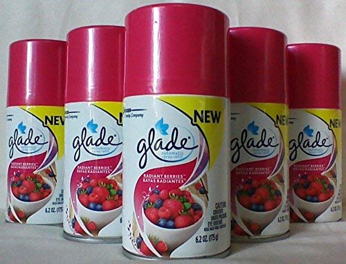 5 Glade Automatic Spray Air Freshener Refill,Radiant Berries 6.2 Ounce Pack of 5