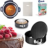PRIME Springform Cake Pan - 7 Inch - BEST Bundle - Fits Instant Pot Pressure Cooker 5, 6 Qt & 8 Quart - BONUS Accessories - Icing Smoother + eBook - Round Cheesecake Tin   For Instapot