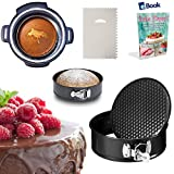 PREMIUM Springform Cake Pan - LEAKPROOF - 7 Inch - BEST Bundle - Fits Instant Pot Pressure Cooker 5, 6 Qt & 8 Quart - BONUS Accessories - Icing Smoother + eBook - Round Cheesecake Tin | For Instapot