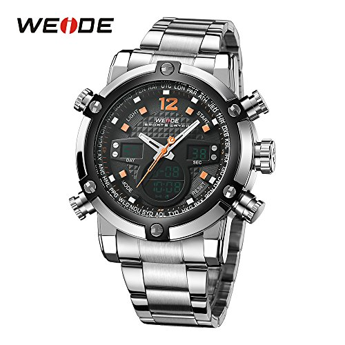 WEIDE Sport Water Resistant 3ATM Silicone Quartz Movement Military Original Weide Sports Watches For Men