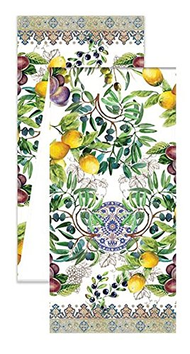 (Michel Design Works Turkish Cotton Table Runner, 108-Inch, Tuscan Grove )