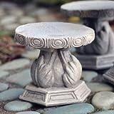 Fiddlehead Fairy Village – Miniature Stone Stool, Set of 2 For Sale
