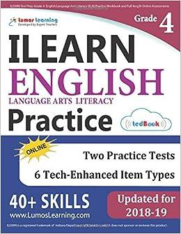 ILEARN Test Prep: Grade 4 English Language Arts Literacy (ELA ...