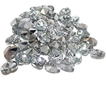 Pro Jewelry (Pack of 50) Faceted Clear Heart Glass Jewelry Making Beads