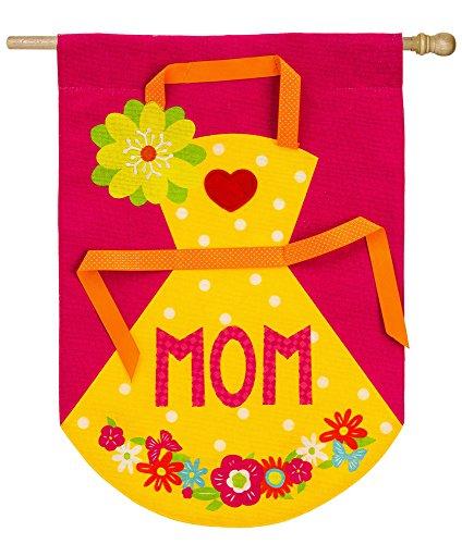Evergreen Enterprises Apron (Evergreen Mom's Apron Burlap House Flag, 28 x 44 inches)