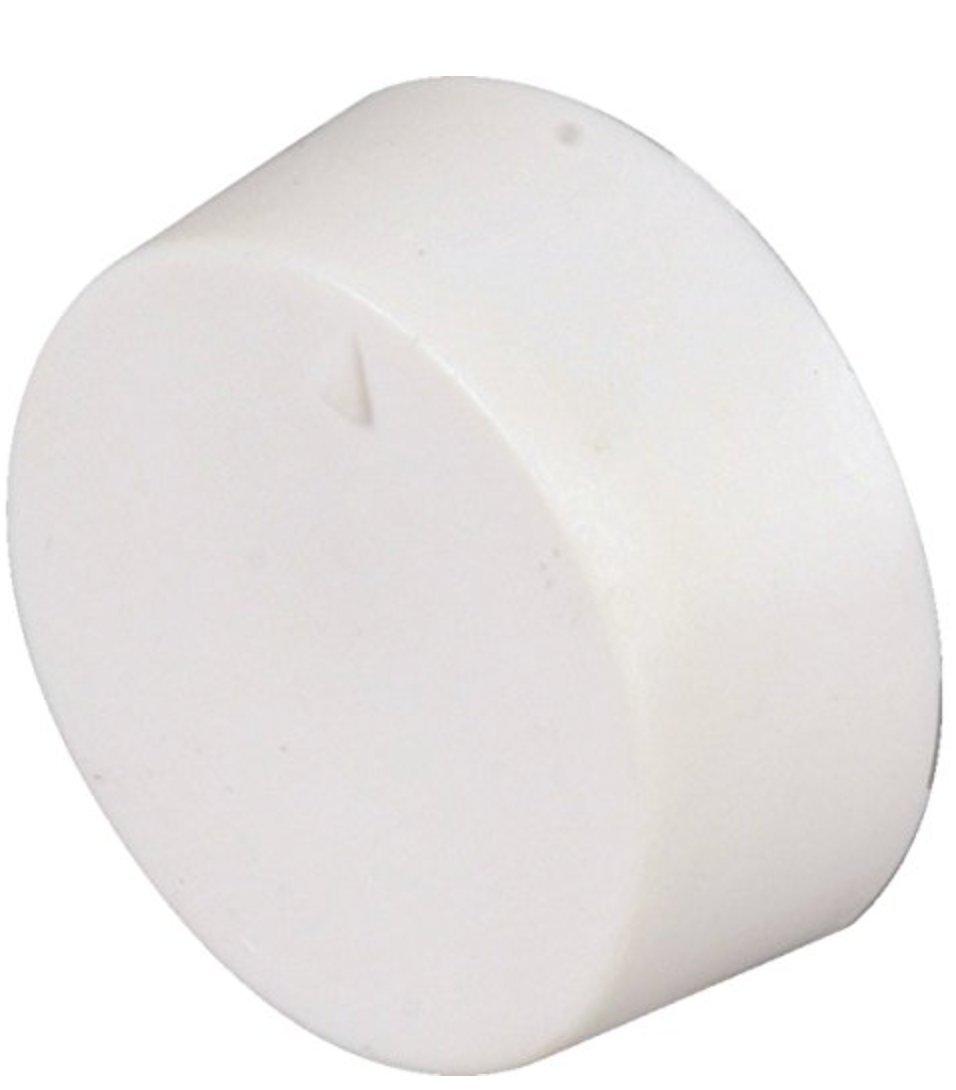 HEDY4LESS White Single Pole Line Volt Thermostat Cover w/Line Volt Thermostat Knob Set