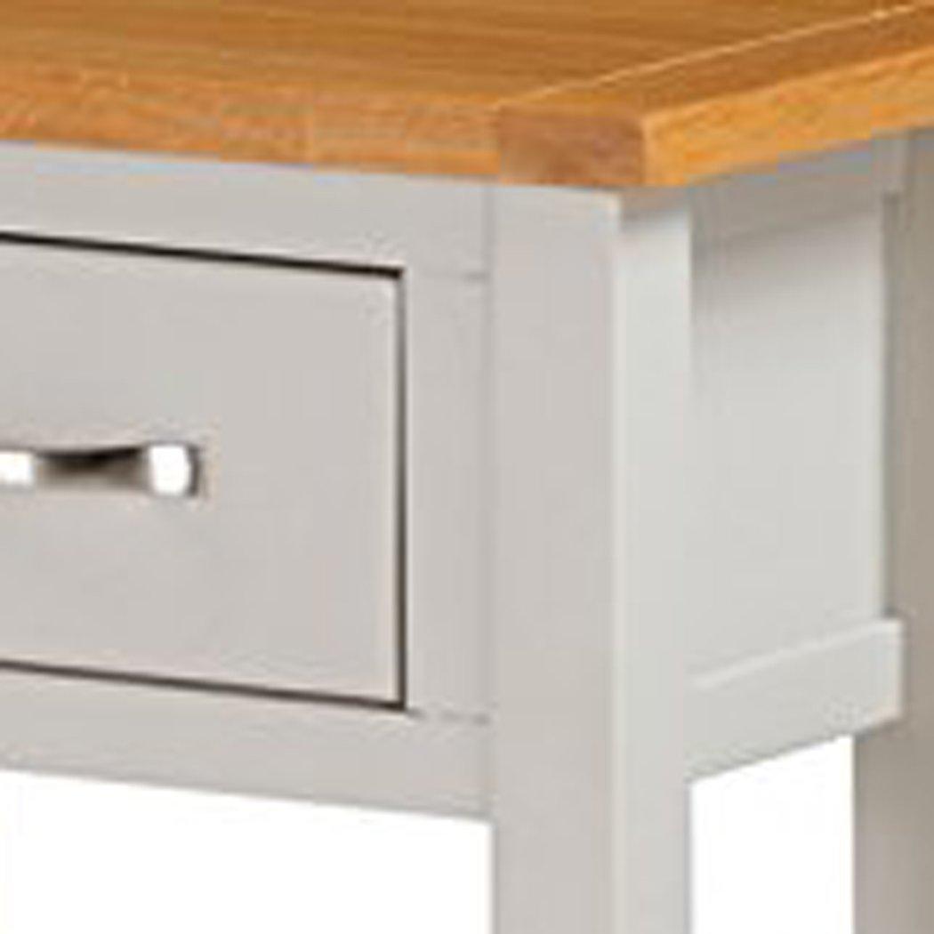 Roseland Furniture Mullion Painted Console Table with Drawer, Wood, Stone Grey, Medium RF09728