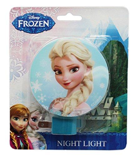 Blue Disney Frozen Elsa Plug In Night Light with Switch ()