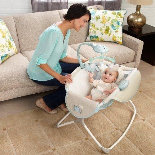 Newborn Rocking Bassinet Baby Cradle Furniture Sleeper Crib Nursery Portable Bed from rung shop