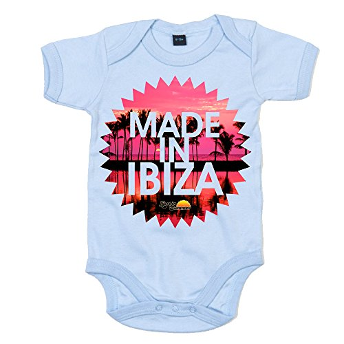 Lost In Summer: Made in Ibiza Baby Grow - Light Blue Marl, 12-18 months ()