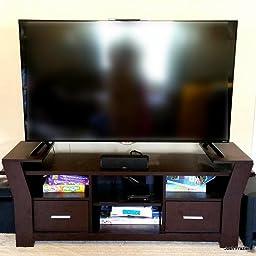 Iohomes torena multi storage tv stand black for Furniture of america torena