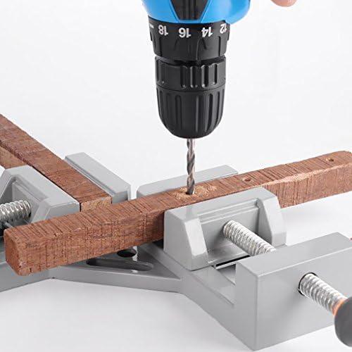 D DOLITY 木工 コーナークランプ 直角クランプ バイス ウッドメタル 木工ツール 作業工具 - ダブル