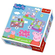 Trefl 34813 3-in-1 Peppa Pig Playing at School Puzzle by Trefl