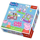 """Trefl 34813 3-in-1 """"Peppa Pig Playing at School"""" Puzzle"""