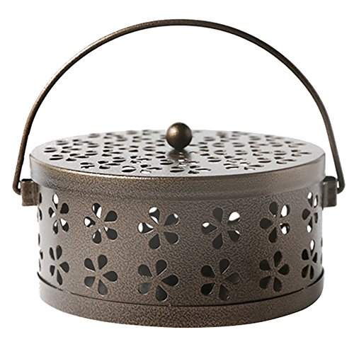 - MyLifeUNIT Mosquito Coil Holder, Retro Portable Mosquito Incense Burner for Home and Camping (Bronze)