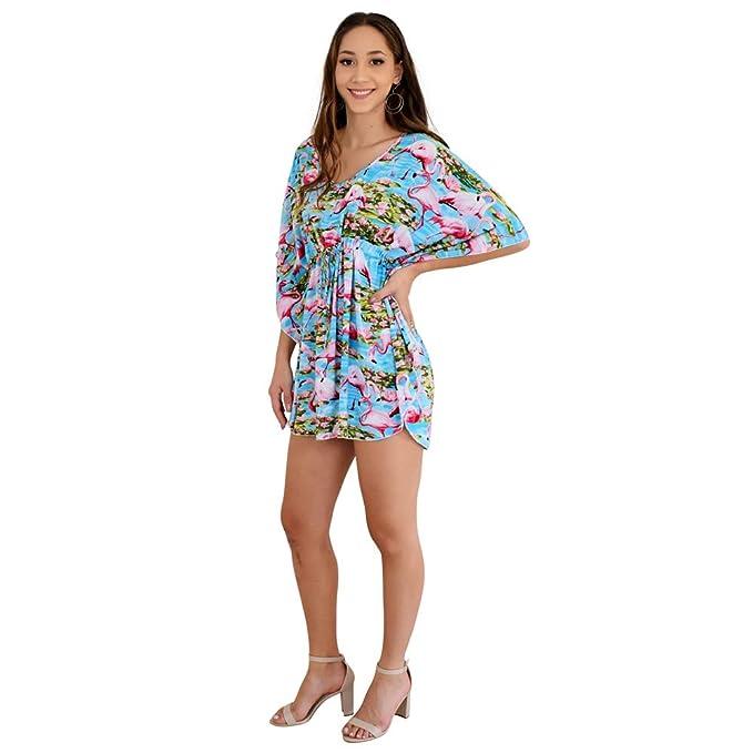 Amazon.com: Island estilo ropa mujer Poncho vestido azul ...