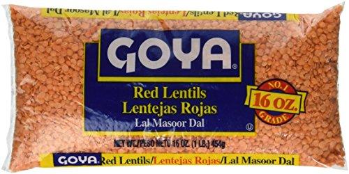 Red Lentils (Goya Red Lentils 16 oz)