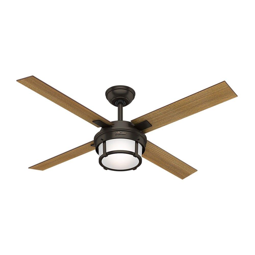 MD Group Ceiling Fan Standard 3 Speed Motor Premier Bronze w/ Remote & LED Light Kit