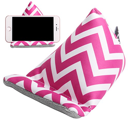 Plinrise Multifunctional Fabric Phone Stands Iphone Bed & Lap Stand, Bean Bag, Universal Phone Holder, Soft Mounts For Smartphones, Best Gift To Friends And Families (Phone Sofa Rose Red)