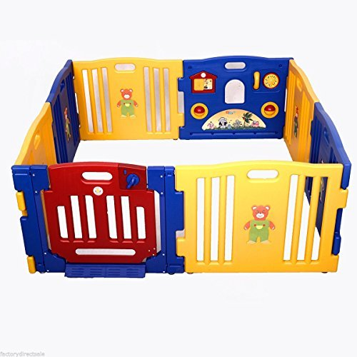 8 Panel Safety Baby Playpen Kids Indoor/Outdoor Play Center With Ebook by MRT SUPPLY (Image #5)