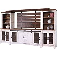 Crafters and Weavers Granville White 122 TV Stand Wall Unit