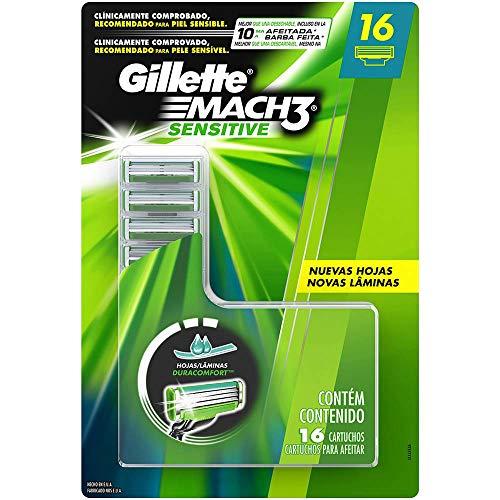 Gillette Mach3 Sensitive Paquete con 16 Cartuchos