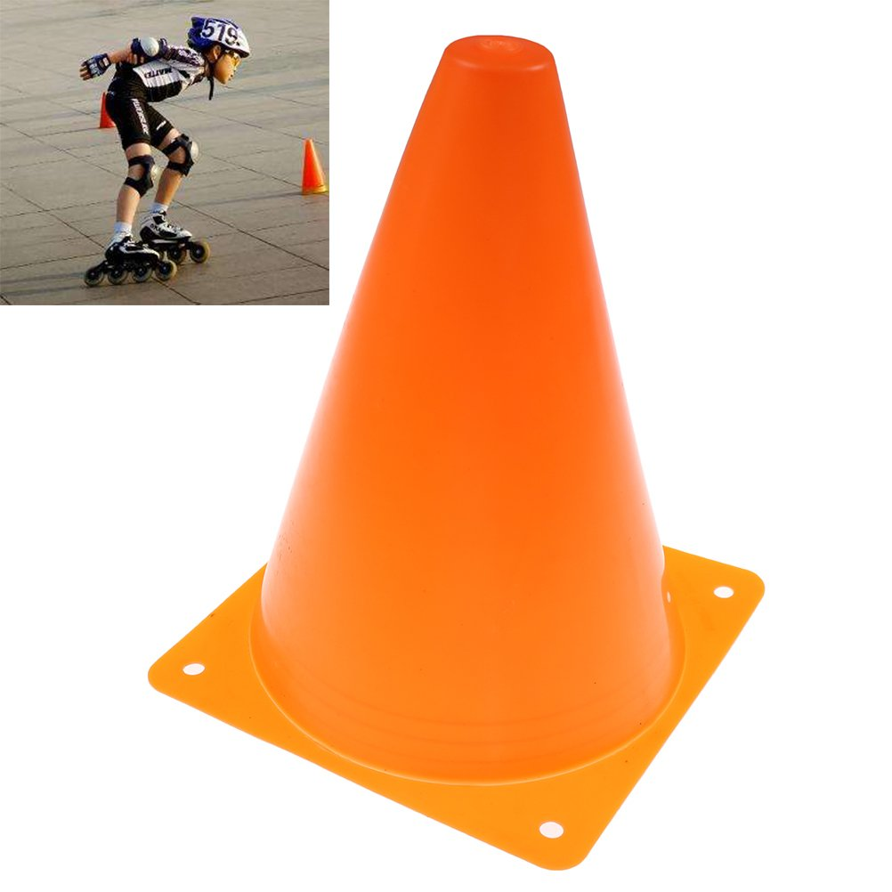 Leilaert 7 Inch Training Cones 10 Pcs Training Traffic Cones Multipurpose Football Cones for Outdoor and Indoor Gaming and Festive Events for Kid Adult Sports