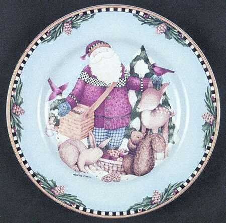 Sakura Woodland Santa By Debbie Mumm Carrying Feeding the Animals