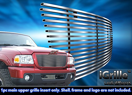 Fits 2006-2012 Ford Ranger Stainless Steel Billet Grille Grill Insert #F85342C (2006 Ford Ranger Grill Emblem)