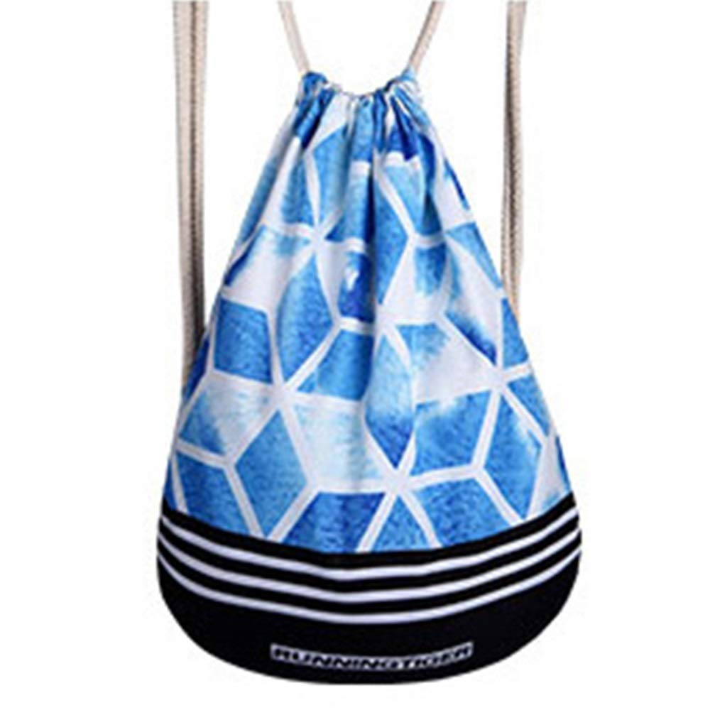 CZZ111 Elegent Diamond Shape Pattern Backpack Drawstring Backpack Polyester Weight Loss Breathable Unisex Backpack Bundle Pocket Charming