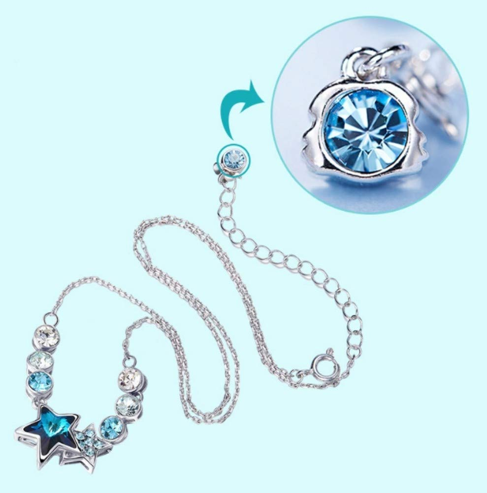 価格は安く QWERST女性ネックレススターリングシルバー星座人格ペンダントファッションエレガントな絶妙なネックレス最高の贈り物 B07MM4X8ZW, オオスミチョウ:7e0a2d9c --- a0267596.xsph.ru