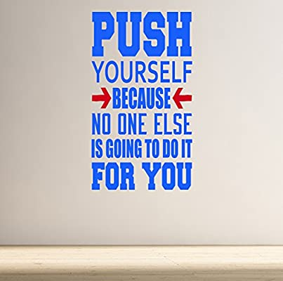 Push Yourself Adhesivo De Pared Con Frase Motivacional