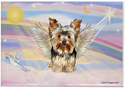 Diseño de perro Yorkshire Angel/de nubes CafePress rectangular - estándar 17 imán Multi-color: Amazon.es: Hogar