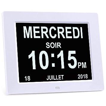 b3a37f6b906 KSD- 8 quot  LCD Horloge Numérique Calendrier avec Date