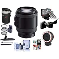 Sony PZ 18-200mm F3.5-6.3 OSS Alpha E-Mount NEX Camera Lens, Black - Bundle with LensAlign MkII Focus Calibration System, Peak Lens Changing Kit Adapter, Flex Lens Shade, 67mm Filter Kit, And More