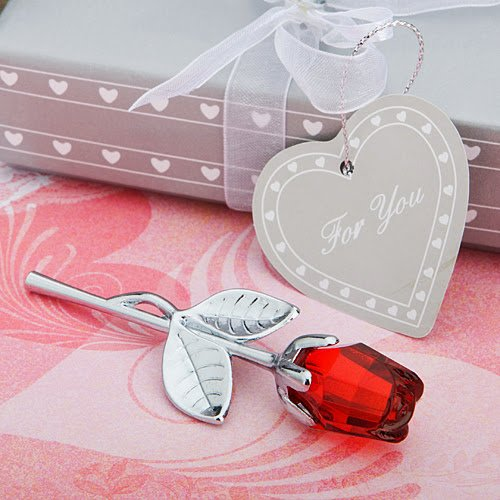 20 Choice Crystal Collection Red Rose Favors (Red Rose Collection)