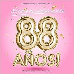 El libro de visitas de mis 88 años: Decoración rosa para el ...